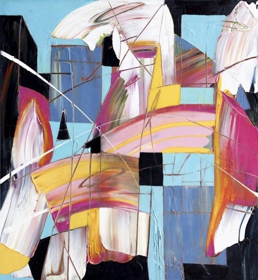 Abstract Movement in Magenta
