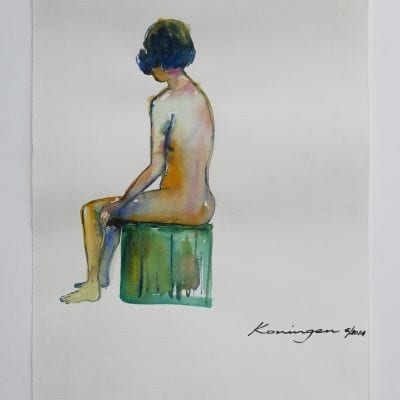 Girl on Green Seat