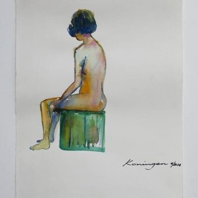 Girl on Green Seat