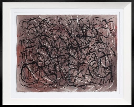Framed Abstract on paper 60