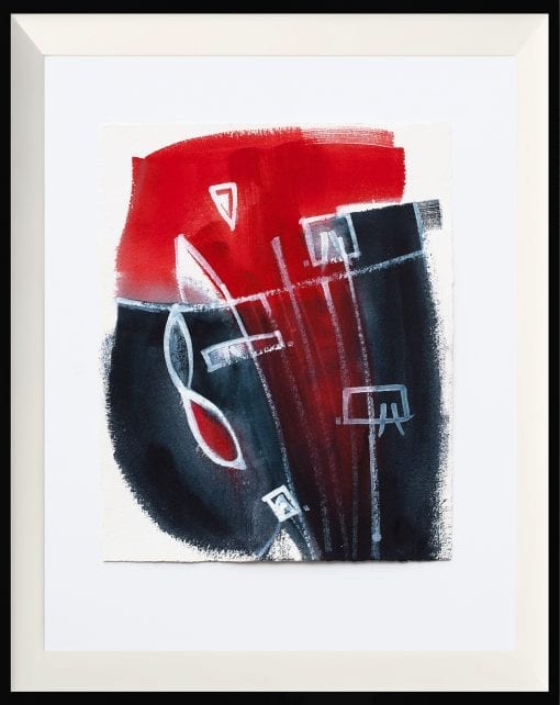 Framed, Abstract on Paper 64