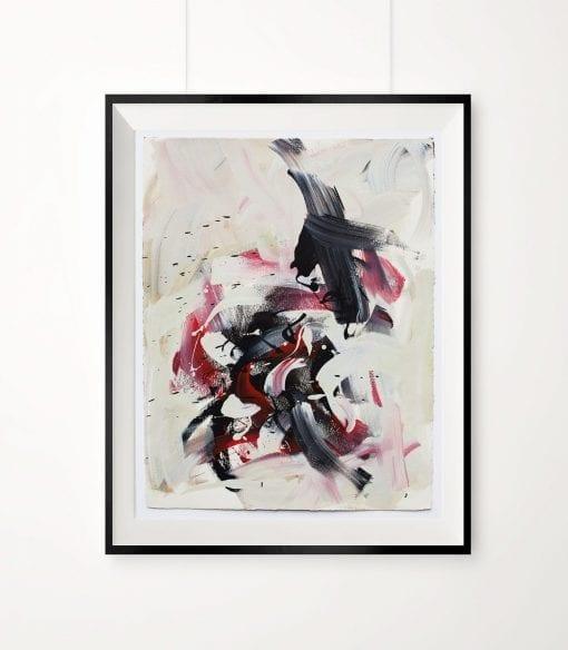 Framed, Abstract Magenta