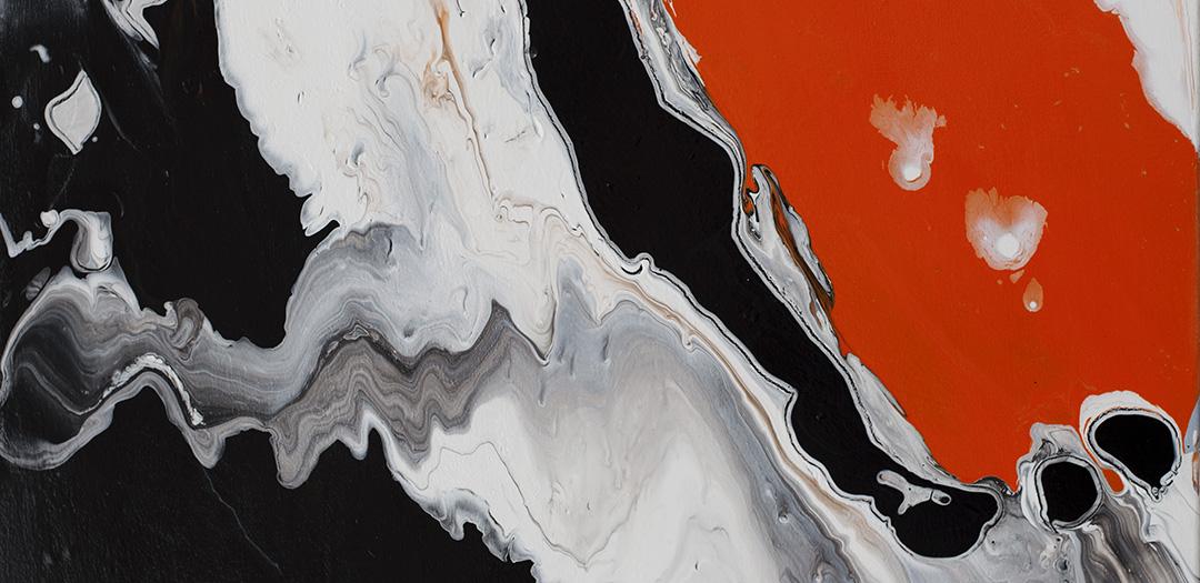 Abstract Art - Splash of Orange