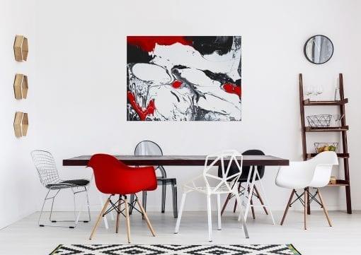 In Situ, Red Black on White 1