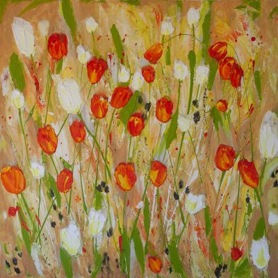vermillion-white-tulips