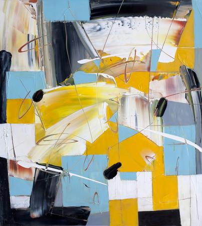 Abstract Movement in Yellow