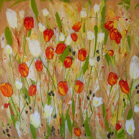 vermillion-white-tulips